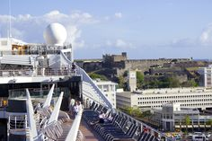 MSC Divina with a view of Old San Juan and the fortress.