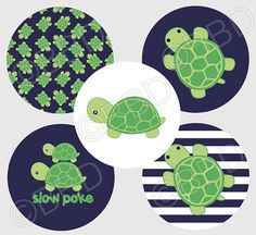 M2MG TINY TURTLES Bottle Cap Graphics Art by blessedbydesigns
