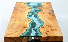 I wouldn't get this as a table, but would paint something like this on  canvas