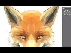 ID Low Poly Illustrator: 3 of 3 - The Fox