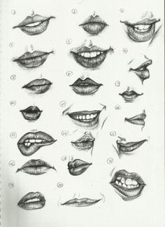 How to draw lips 101
