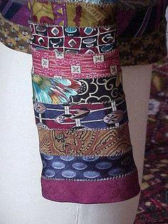 denim jacket sleeve view, via Flickr.