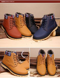 New Fashion Martin Boots Casual Tooling Men's Shoes