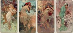 art nouveau paintings alphonse mucha - Google Search