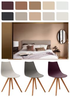 How to use Spiced Honey in your Home - Dulux Colour of the Year 2019 White Extending Dining Table, 4 Seater Dining Table, Colored Dining Chairs, Plastic Dining Chairs, White Dining Chairs, Modern Dining Chairs, Dining Chair Set, Bedroom Colour Palette, Bedroom Color Schemes