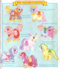 1986 My Little Pony range and accessories catalogue Original My Little Pony, Vintage My Little Pony, Childhood Images, Childhood Memories, Retro Toys, Vintage Toys, 1980s Toys, Dolls From The 80s, Rainbow Brite