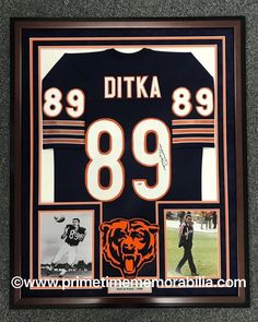 Smart New Mike Ditka Chicago Bears Glass And Mirror Football Display Case Uv Sports Mem, Cards & Fan Shop