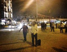 A single man who has been standing in Taksim Square since 8:45 PM Monday has started a new style of #occupygezi protest.