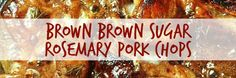 Yep, you read that right - Balsamic Brown Sugar Rosemary Pork Chops. I know, I know - that name is a mouthful, but you won& care once you replace the words Pork Recipes, Easy Recipes, Easy Meals, Cooking Recipes, Ham Sausage Recipe, Rosemary Pork Chops, Slimming World Recipes, Sausages, Steaks