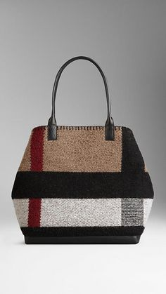 Medium Check Blanket Tote Bag from Burberry. This is great one.