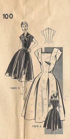 1950s Mail Order 100 FF Vintage Sewing Pattern Misses