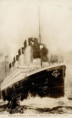 Postcard featuring the ill-fated RMS Titanic [SS Titanic]