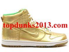 Famous Nagoya Gold Green Premium High Top Nike Dunk Premium Quality
