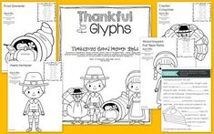 Thankful for Glyphs thanksgiving themed language glyphs the speech bubble slp #slp #speechtherapyideas