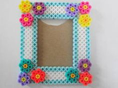 Photo frame perler beads by Kellie C. - Perler® | Gallery