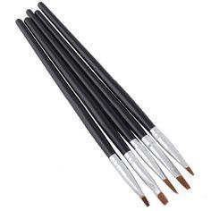 ซื้อเลย ช่วงนี้ลดราคา Bluelans Nail Art Acrylic Gel Pen Brush Dotting Tool Set of 5 ราคาถูก คุณภาพดี คุ้มราคา