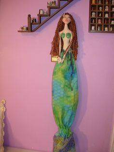 Mermaid Grocery Bag Holder Doll