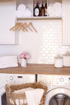 Laundry Room Refresh: Boring Laundry Closet to French Country Cinderella
