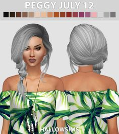 Sims 4 CC's - The Best: Hair Conversions by HallowSims