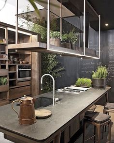 Something different- a modern twist to a country kitchen. cr @the_eat_culture  Designed by Shake-Design, Italy. #interiordesign #design #design123 #inspiration #inspirasjon #interior #interiør #kitchen #countrykitchen #somethingnew