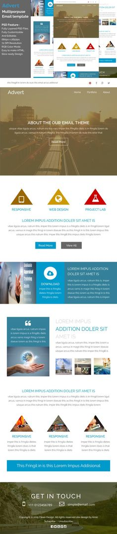 Advert - Multiporpuse email template