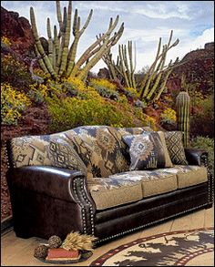 rustic western couches | Welcome to the ranch with the handmade Wassila Sofa Collection ...