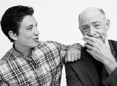 Stars Shine in InStyle's #TIFF2014 Portrait Studio - MILES TELLER AND J.K. SIMMONS OF 'WHIPLASH' from #InStyle