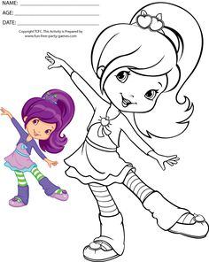 Strawberry Shortcake Coloring Pages Free Coloring Page For Kids in post at November 2019 Cute Coloring Pages, Coloring Pages For Girls, Cartoon Coloring Pages, Coloring Pages To Print, Coloring For Kids, Free Coloring, Coloring Sheets, Coloring Books, Strawberry Shortcake Coloring Pages