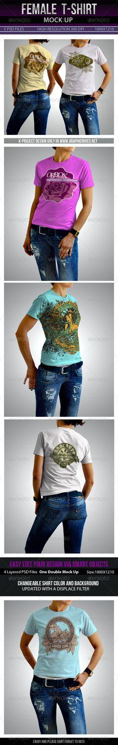 Graphic - Logo Templates - ePublishing - Web Elements - Vectors: Female T-Shirt Mock Up