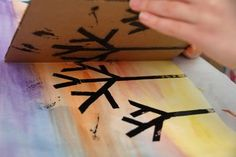 Sunset Silhouette- Painting project easy for kids to make