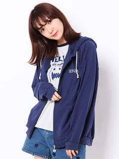 """WORLD WIDE LOVE! (Worldwide Love) Rydia / Kobi meow round Zip Hoodie. NOTE: The French word """"bonjour"""" means """"hello"""""""