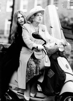 The Queen and Cara Delivigne