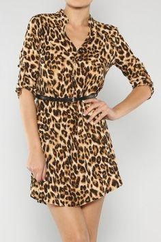 Wild Leopard Dress #salediem wants you to ROAR!Enjoy your #animalprint #fall#fashion Shipping is FREE!