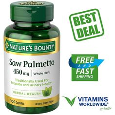 #Beauty #Health #natural health SAW PALMETTO 450 MG Prostate Urinary Health Supplement Nature's Bounty 100 Caps 10.51      Item specifics     Condition:        New: A brand-new, unused,...