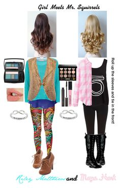 """Girl Meets Mr. Squirrels: Riley Matthews and Maya Hart: STS"" by kittylover800 ❤ liked on Polyvore"
