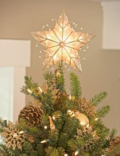 Capiz Star Christmas Tree Topper