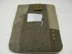 iPad 3 Case wool  Eco Friendly Recycled Suit Coat by SewMuchStyle, $35.00