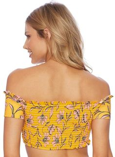 411f281838a Splendid Golden Girlie Off-shoulder Bikini Top - ShopStyle Two-Piece