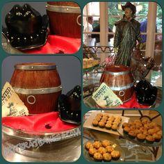 Barrel Cake - Western Birthday By: Brittney Mitchell BritBratBakes.com