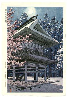 Shiro Kasamatsu - La lune au Temple Engaku 1953