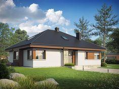 Eris II (wersja C) - projekt domu - Archipelag My Home Design, House Design, Modern Bungalow, Good House, Home Fashion, Gazebo, House Plans, New Homes, Floor Plans