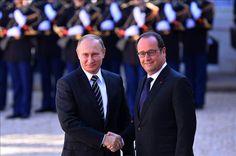"""الرئيس الفرنسي يوجه انتقادات لاذعة لبوتين """"روسيا الآن حليفة الأسد وليست حليفتنا"""""""