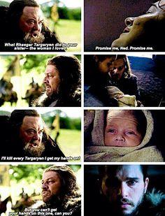 Ned Stark and Jon Snow (Targaryen)