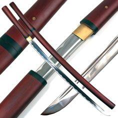 Handmade Japanese Shirasaya Samurai Katana Sharp Sword for sale online Zombie Apocalypse Weapons, Ninja Weapons, Martial Arts Supplies, Samurai Swords Katana, Ninja Sword, Musashi, Japanese Sword, Fantasy Weapons, Dragon Art