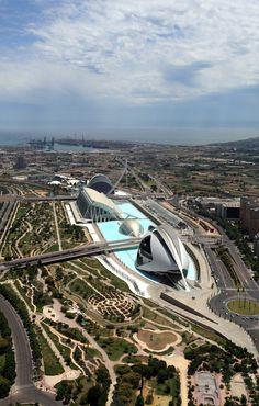 Ciudad de las Artes y las Ciencias. Valencia. Spain