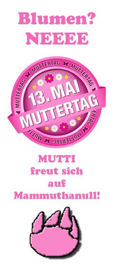 Muttertag Mammuthanulltag Mother's Day