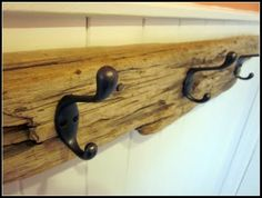 Driftwood Towel Bar! For sure trying this after seeing what a boring towel bar is worth.