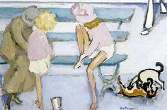"ageoftheart: ""Children by the Sea Artist: Kees Van Dongen Year: 1920 Type: Oil on canvas """