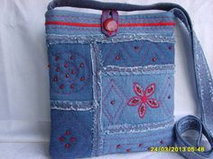 Denim bag (looks like alabama chanin)