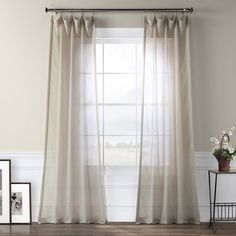 Shop Exclusive Fabrics Tumbleweed Faux Linen Sheer Curtain Panel - On Sale - Overstock - 7179785 - Tumbleweed - 50 X 84 Mattress Furniture, Brown Curtains, Panel Curtains, Drapes Curtains, Curtains, Sheer Curtain Panels, Curtain Styles, Home Decor Outlet, Furnishings